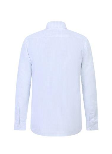 Kiğılı Uzun Kol Regular Fit Kareli Gömlek Mavi